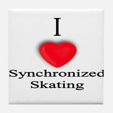 Synchronized Skating Tile Coaster