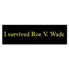 I Survived Roe V. Wade Bumper Sticker (50 pk)