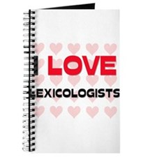I LOVE LEXICOLOGISTS Journal