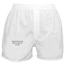 Cute Irish red white setter Boxer Shorts