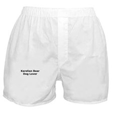 Cute Karelian bear dog Boxer Shorts