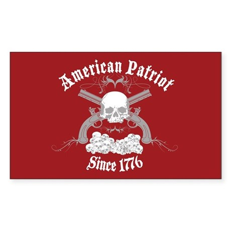 American Patriot Since 1776 Rectangle Sticker