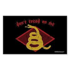 DTOM Diamond Snake Rectangle Decal