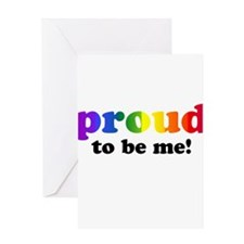 Proud to be me... Greeting Card