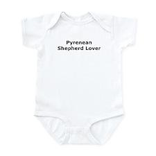 Cute Pyrenean shepherd Infant Bodysuit