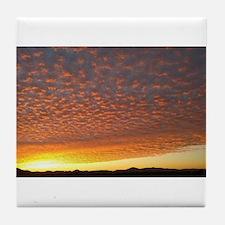 Cloud Fire Tile Coaster