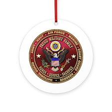 Proud Military Family Keepsake (Round)