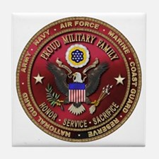 Proud Military Family Tile Coaster