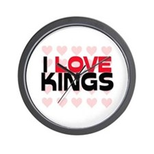 I LOVE KINGS Wall Clock