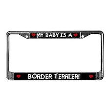 Border Terrier License Plate Frame
