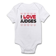 I LOVE JUDGES Infant Bodysuit