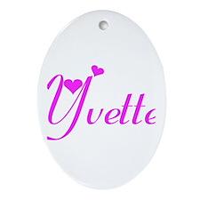 Yvette Oval Ornament