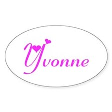 Yvonne Oval Decal