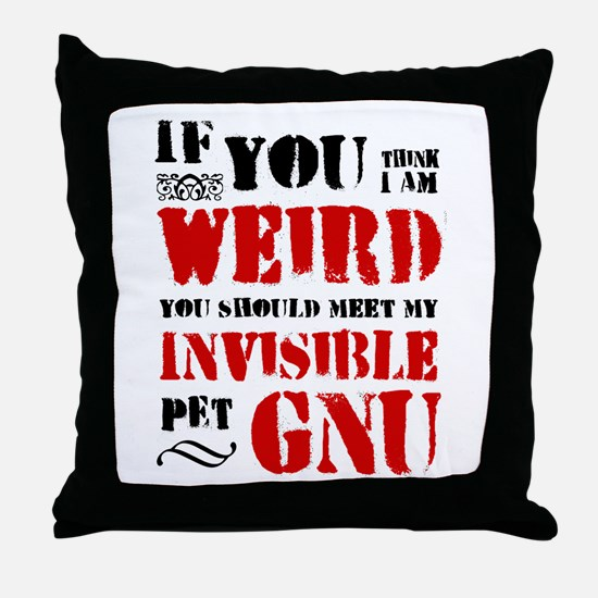 'Invisible Pet Gnu' Throw Pillow