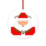 Rebuild New Orleans Santa Ornament (Round)