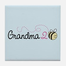 Grandma To Bee Tile Coaster