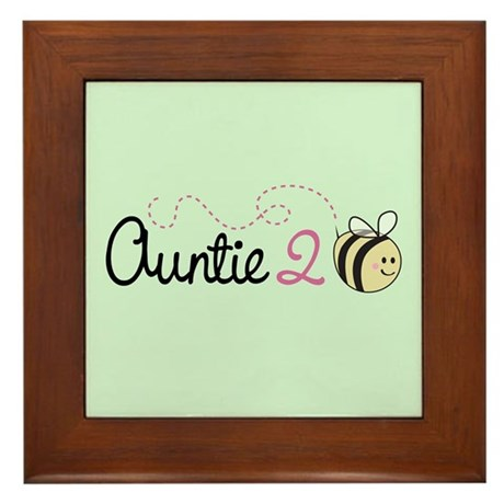 Auntie To Bee Framed Tile