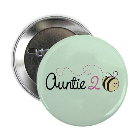 """Auntie To Bee 2.25"""" Button (100 pack)"""