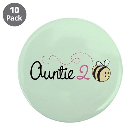 """Auntie To Bee 3.5"""" Button (10 pack)"""