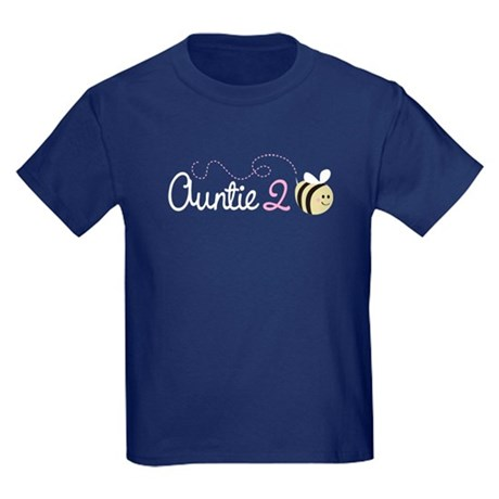 Auntie To Bee Kids Dark T-Shirt