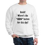 Undo button for this day Sweatshirt