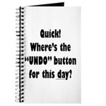 Undo button for this day Journal