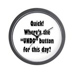 Undo button for this day Wall Clock