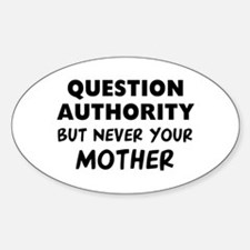 Question Mother Sticker (Oval)