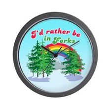 I'd Rather Be In Forks Wall Clock