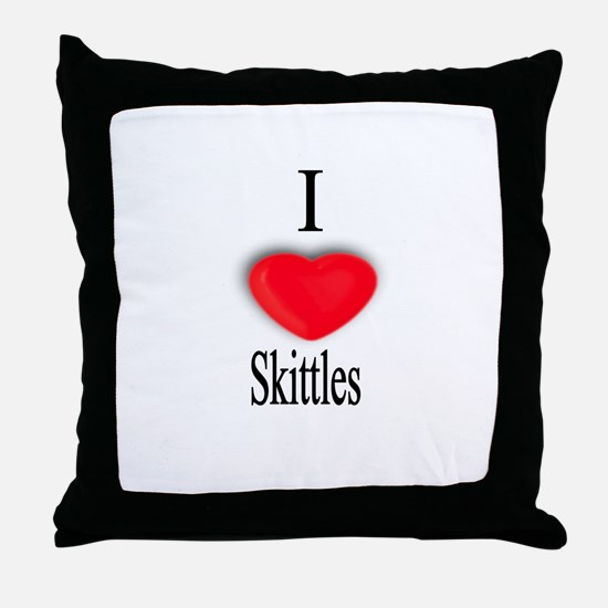 Skittles Throw Pillow