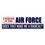 Air Force Bumper Sticker (50 pk)