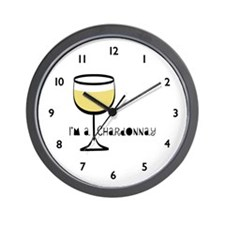 Chardonnay Drinker Wall Clock