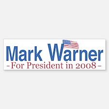 Hillary 2008 Flag Bumper Bumper Bumper Sticker