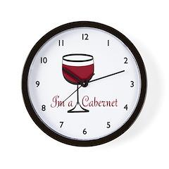 Cabernet Drinker Wall Clock