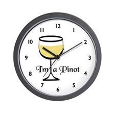 Pinot Wine Drinker Wall Clock