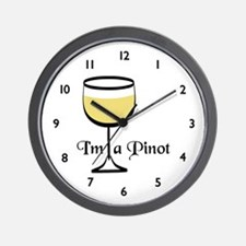 Pinot Wine Drinker Wall Clock