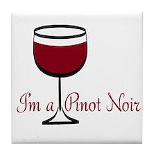 Pinot Noir Drinker Tile Coaster