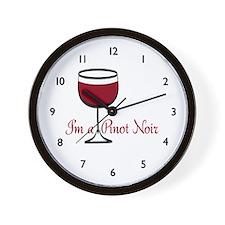 Pinot Noir Wine Drinker Wall Clock