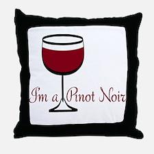 Pinot Noir Drinker Throw Pillow
