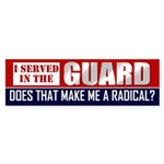 National Guard Bumper Sticker