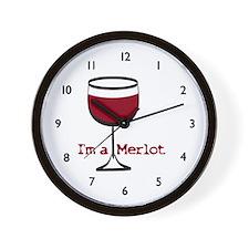 Merlot Wine Drinker Wall Clock