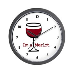 Merlot Wine Drinker Wall Clock