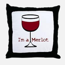 Merlot Drinker Throw Pillow