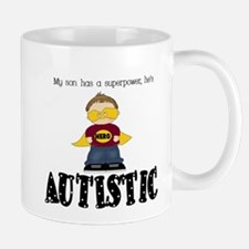 Son has superpower Autistic Mug