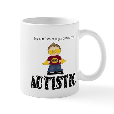 Son has superpower Autistic Mug