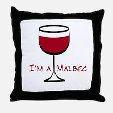 Malbec Drinker Throw Pillow