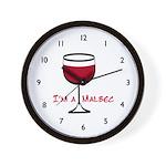 Malbec Drinker Wall Clock