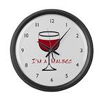 Malbec Drinker Large Wall Clock
