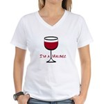 Malbec Drinker Women's V-Neck T-Shirt