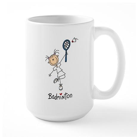 Girl's Badminton Large Mug